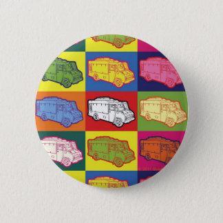 Food Truck Pop Art Button