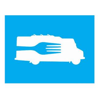 Food Truck: Side/Fork (Blue) Postcard
