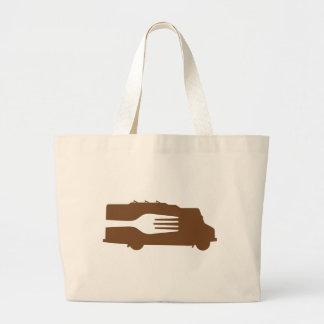 Food Truck: Side/Fork (Brown) Tote Bag