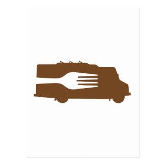 Food Truck: Side/Fork (Brown) Post Card