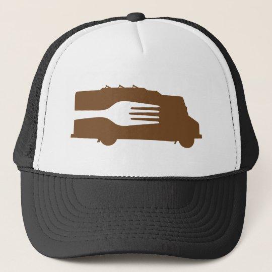 Food Truck: Side/Fork (Brown) Trucker Hat