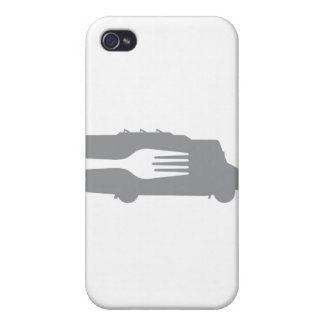 Food Truck: Side/Fork (Gray) iPhone 4 Case