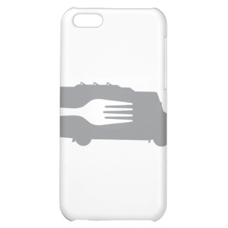 Food Truck: Side/Fork (Gray) iPhone 5C Cover
