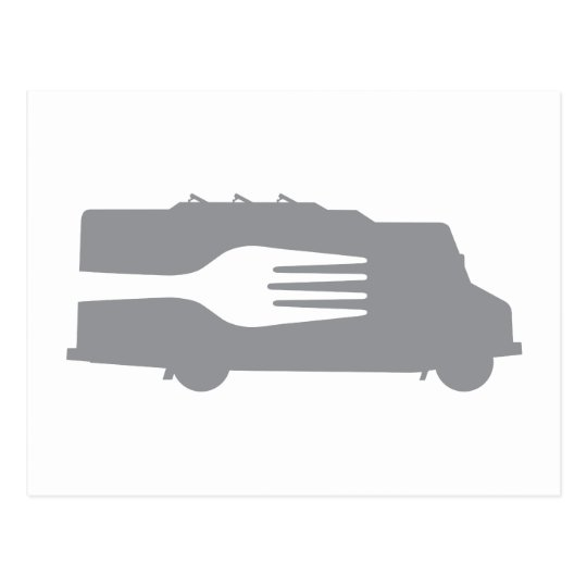 Food Truck: Side/Fork (Gray) Postcard