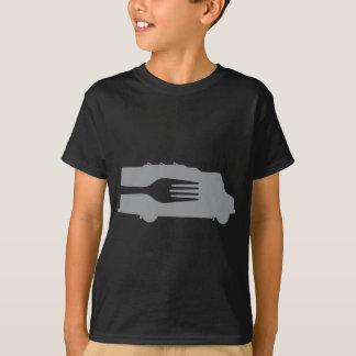 Food Truck: Side/Fork (Gray) T-Shirt