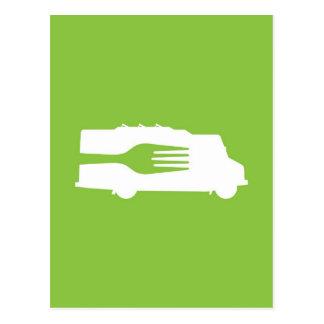 Food Truck: Side/Fork (Green) Post Card