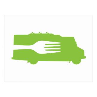 Food Truck: Side/Fork (Green) Post Cards