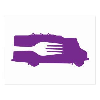 Food Truck: Side/Fork (Purple) Postcards