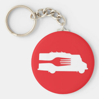 Food Truck: Side/Fork (Red) Keychain