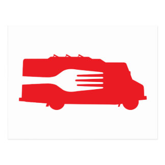 Food Truck: Side/Fork (Red) Post Cards