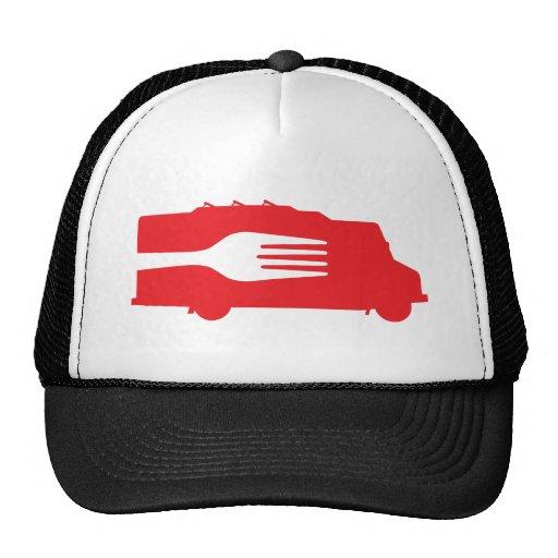 Food Truck: Side/Fork (Red) Trucker Hat