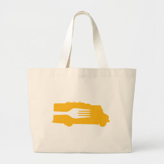 Food Truck: Side/Fork (Yellow) Canvas Bags
