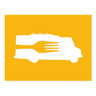 Food Truck: Side/Fork (Yellow) Post Card