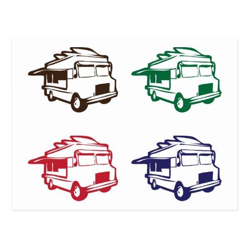 Food trucks four color design postcard zazzle for Food truck design app