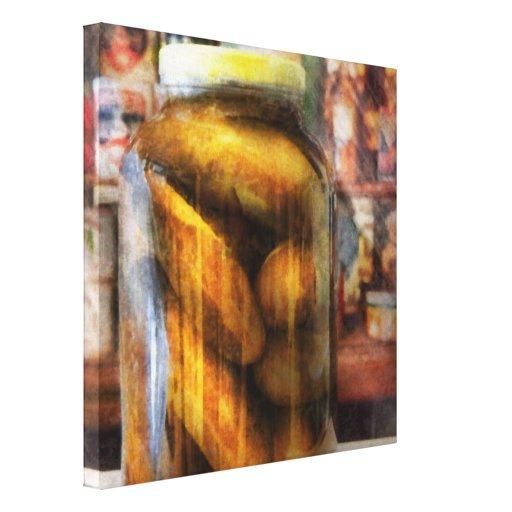 Food - Vegetable - A jar of pickles Stretched Canvas Prints