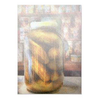Food - Vegetable - A jar of pickles Card