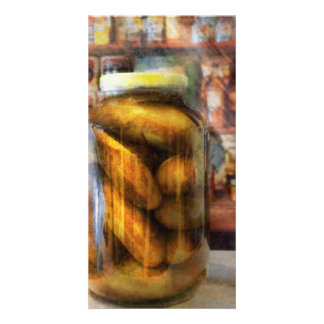 Food - Vegetable - A jar of pickles Photo Greeting Card