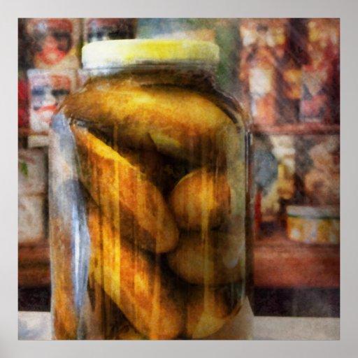 Food - Vegetable - A jar of pickles Posters