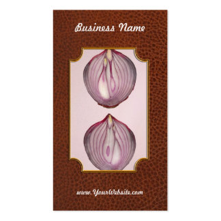 Food - Vegetable - Cross section of a Red Onion Business Card