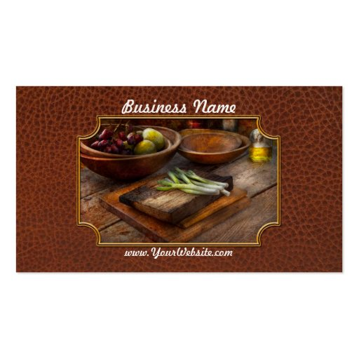 Food - Vegetable - Garden variety Business Card Templates