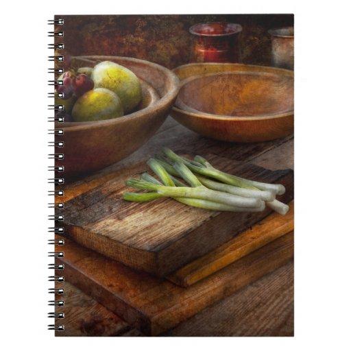 Food - Vegetable - Garden variety Spiral Notebook