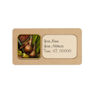 Food - Vegetables - Greens and Onions Label