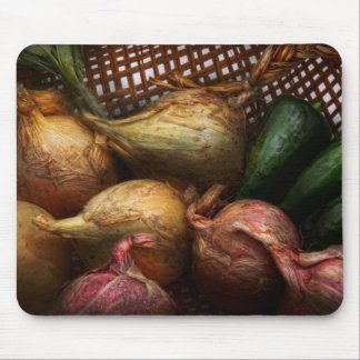 Food - Vegetables - Onions and Peppers Mouse Pads