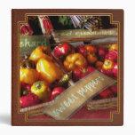 Food - Vegetables - Sweet peppers for sale Vinyl Binders