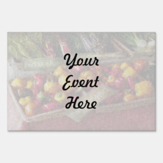 Food - Vegetables - Sweet peppers for sale Lawn Sign