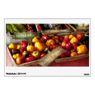 Food - Vegetables - Sweet peppers for sale Wall Decal