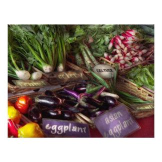 "Food - Vegetables - Very fresh produce 8.5"" X 11"" Flyer"