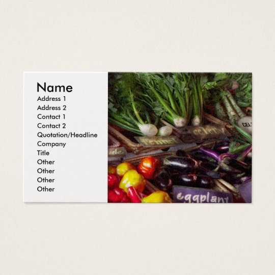Food - Vegetables - Very fresh produce Business Card
