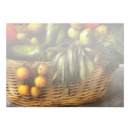 Food - Veggie - Sage advice Invitations