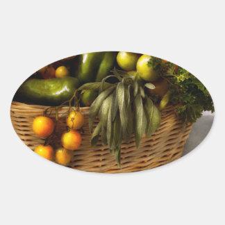 Food - Veggie - Sage advice Oval Sticker