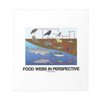 Food Webs In Perspective (Ocean Land Biology) Note Pad