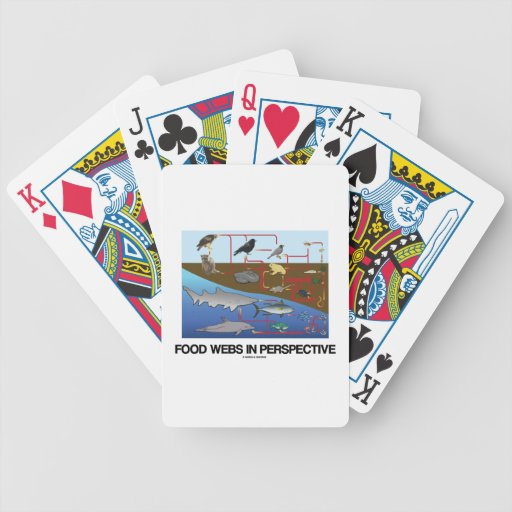 Food Webs In Perspective (Ocean / Land Biology) Bicycle Playing Cards