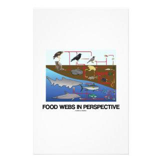 Food Webs In Perspective (Ocean Land Biology) Stationery
