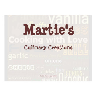 Food Word-Art Recipe Card (Personalize) Post Card