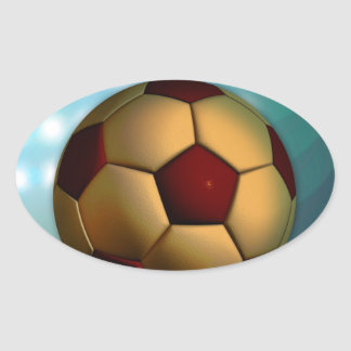 Foodball goal score and success oval sticker