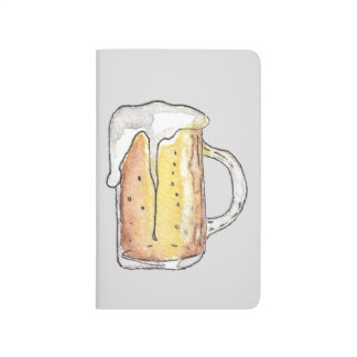 Foodie Cold Beer Mug in Hand Painted Watercolor Journal