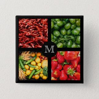 Foodie custom monogram button 6