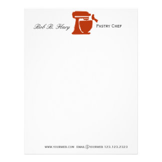Foodie Food Blogger Delicious Baked Letterhead