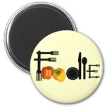 Foodie For Light Background 2 Inch Round Magnet