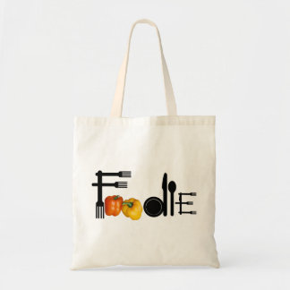 Foodie For Light Background Budget Tote Bag