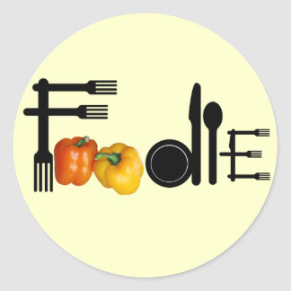 Foodie For Light Background Classic Round Sticker