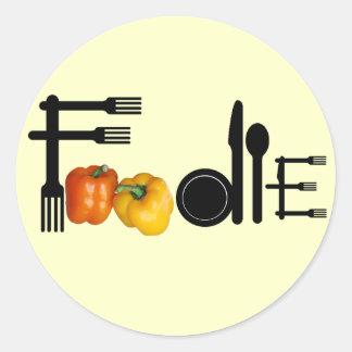 Foodie For Light Background Round Sticker