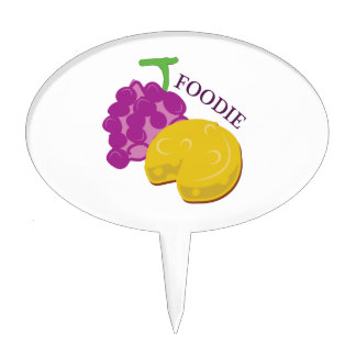 Foodie Grape Cheese Cake Topper