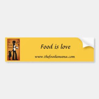 Foodie Mama Bumper Sticker Car Bumper Sticker