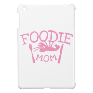 Foodie MOM with lobster on a plate iPad Mini Covers
