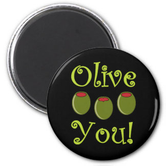 Foodie Olive You 2 Inch Round Magnet
